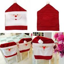 Christmas Chair Back Covers Christmas Tableware Mr U0026 Mrs Santa Claus Dining Chair Covers