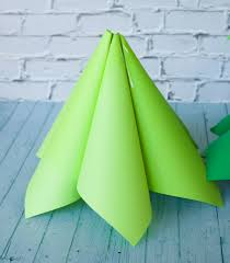 giant ombre paper cone christmas trees a diy tutorial and how to