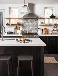 white kitchen cabinets with black subway tile backsplash 18 subway tile backsplash ideas that are totally timeless