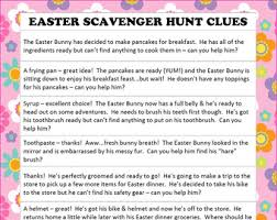 easter scavenger hunt instant download easter scavenger hunt easter hunt clues