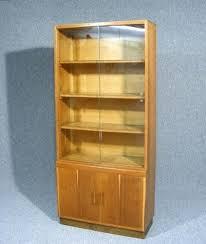 Oak Glazed Display Cabinet Bookcase Bookcase With Glass Front Doors Glass Front Bookcase