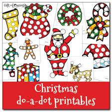 free preschool printable worksheets christmas do a dot printables