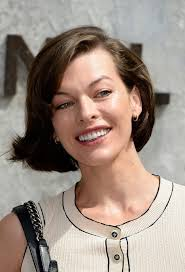 short haircuts hair parted in middle milla jovovich short haircut for 2014 deep side parted short