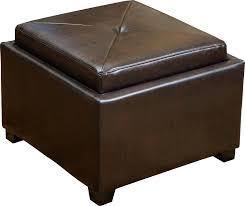 ottoman storage tray ottoman leather storage ottoman with