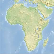 africa map elevation map africa elevation map