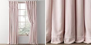 Pink Velvet Curtains Box Tufted Velvet Drapery Collection Rh Baby Child
