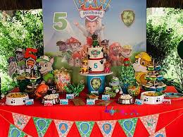 paw patrol kids dessert table hedgehog lane themed party decor