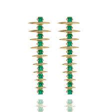 emerald drop forest fern emerald drop earrings carla amorim the jewellery