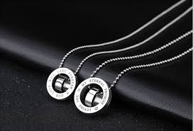 ring necklace men images Aryon double ring necklace men jpg