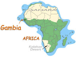 africa map gambia where is gambia in africa map