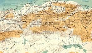 algeria physical map oran algeria map
