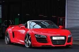 Audi R8 Red - audi r8 convertible car tuning