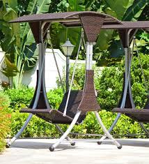 lovely wicker swing chair