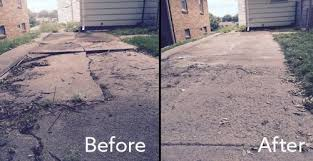 concrete driveway sinking repair concrete driveways should you repair or replace