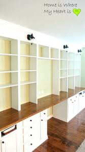 Bookcase To Bench Wall To Built In Desk And Bookcase Home Is Where Mybuilt Storage
