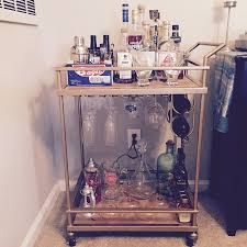 wooden bar cart with wine rack build new bar cart with wine rack