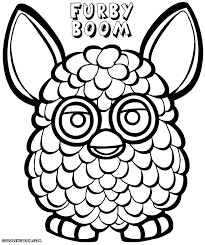 furby coloring pages coloring pages to download and print