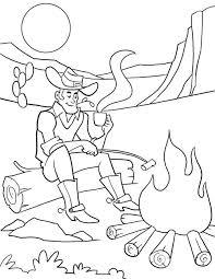 cowboy coloring