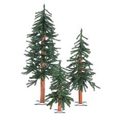 2 3 4 unlit alpine trees set of 3 indoor