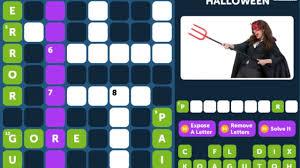 crossword quiz halloween level 3 walkthrough youtube