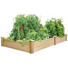 Cedar Raised Garden Bed Greenes Fence 4 U0027 X 8 U0027 X 10 5 Cedar Raised Garden Bed Walmart Com