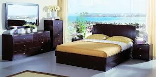 contemporary bedroom set palermo wenge