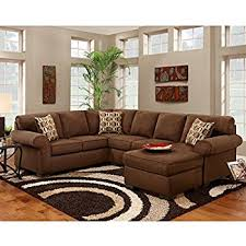 chocolate sectional sofa amazon com flash furniture exceptional designs by onyx fabric