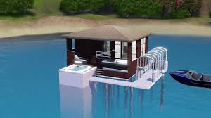 sims 3 building a small house over the sea water cabin