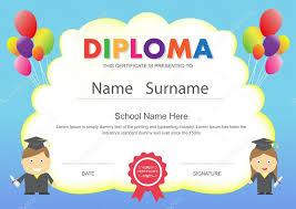 diplomas de primaria descargar diplomas de primaria preescolar niños escuela primaria diploma certificado diseño temp