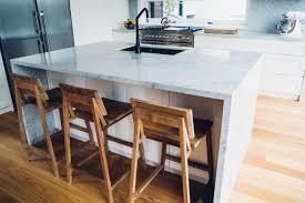 kitchen island bench carrara marble kitchen cremorne home