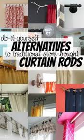 Curtain Hanging Hardware Decorating Diy Curtain Rods Restoration Hardware Inspired Real Wood