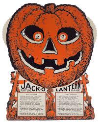 vintage halloween jack o lantern fortune wheel game sourpuss