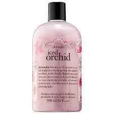 philosophy bath and shower gel philosophy iced orchid shoo shower gel bath 16 oz
