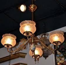 Gas Chandelier Joan Bogart Antiques