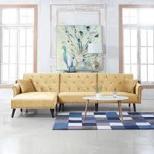 living room futon victoria velvet sectional futon w chaise sofamania com