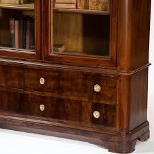 louis philippe period glass enclosed bookcase cabinet omero home