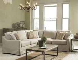 Sectional Sofas Maryland Belgian Linen Slipcover Look Sectional Belfort Furniture Sofa