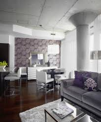Gray Living Room Walls by Purple And Gray Living Room Contemporary With Accent Wall Textured