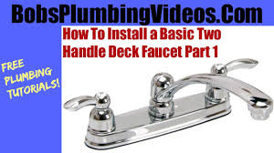 install a kitchen faucet installing a basic kitchen faucet part 1 youtube