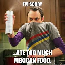 Mexican Food Memes - i m sorry ate too much mexican food bullshit quickmeme