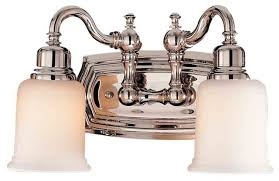 Polished Nickel Wall Sconce Feiss Vs8002 Pn Canterbury 2 Light Polished Nickel Bathroom Wall
