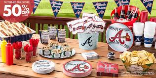 baseball party supplies mlb atlanta braves party supplies party city