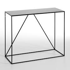 narrow metal console table romy small metal console table am pm la redoute
