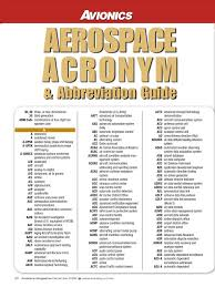 avionics magazine aerospace abbreviation guide docshare tips