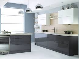 black and white kitchen cabinets with handleless doors sleek