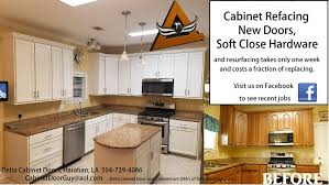 can you replace kitchen cabinet doors only delta cabinetry of new orleans cabinet refacing