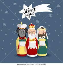 biblical gifts christmas greeting card invitation three stock vector