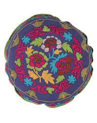 navy blue floral home decor sujani cotton embroidered sujani
