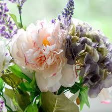 faux hydrangea flowers wine red rose fl 1 bouquet artificial silk