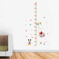 16 mickey mouse wall decals removable mickey mouse choose your mickey minnie mouse kids nursery removable wall stickers height chart